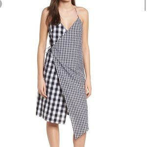 Nordstrom BP Mixed Gingham Print Wrap Dress